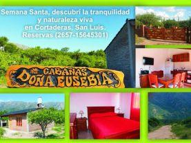 Cabañas Doña Eusebia , Cortaderas